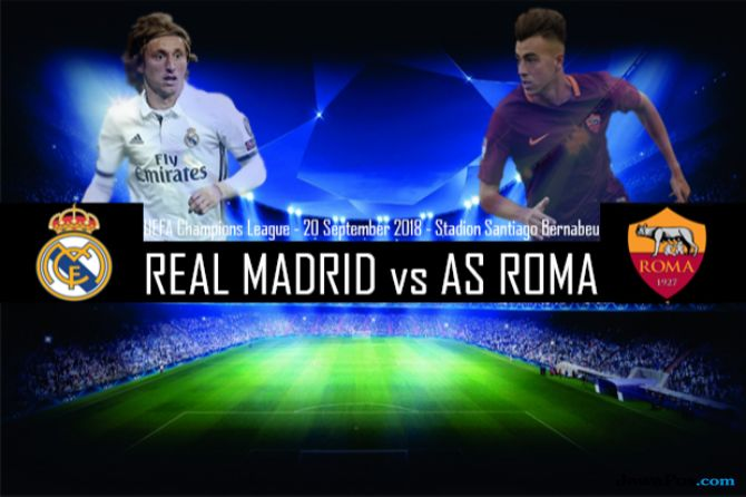Liga Champions 2018-2019, Real Madrid, AS Roma