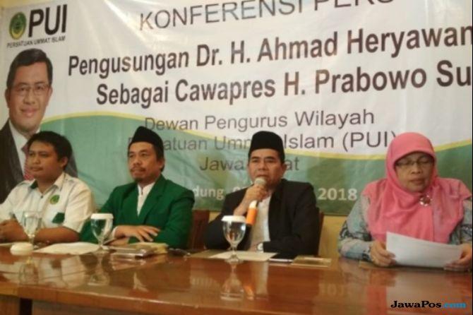 PUI Jabar Dorong Aher Jadi Pendamping Prabowo