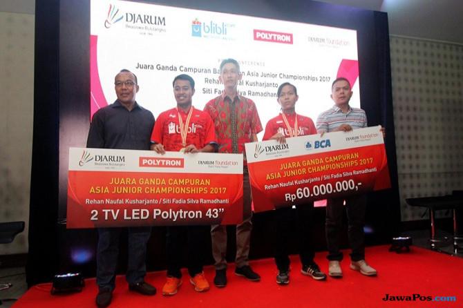 Raih Gelar Juara AJC 2017, Rehan/Fadia Diguyur Bonus