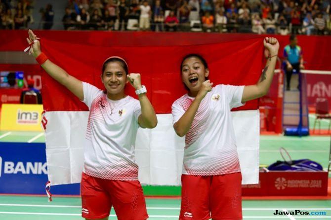 Asian Para Games 2018, INAPGOC, Kemenpora, Indonesia, bulu tangkis, Leani Ratri Oktila/Khalimatus Sadiyah Sukohandoko