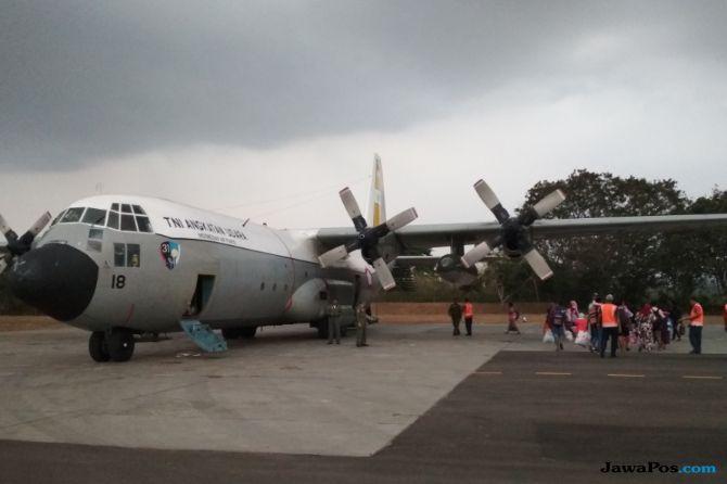 Ratusan Pengungsi Palu Kembali Mendarat di Malang, 6 Kondisi Sakit