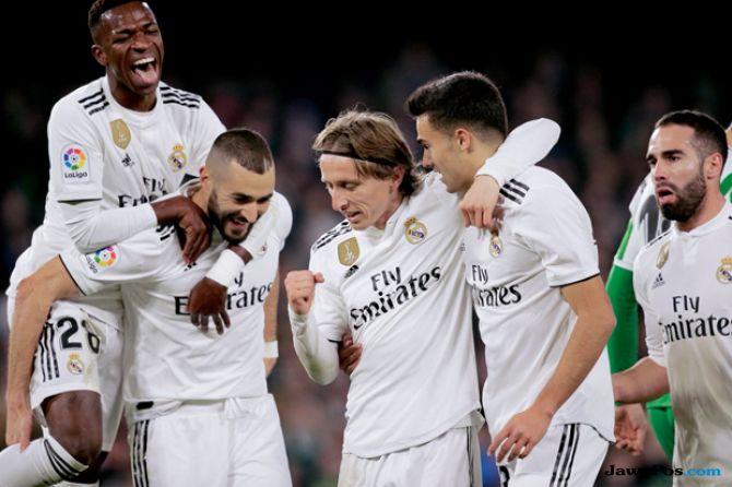La Liga 2018-2019, Liga Spanyol, Real Betis, Real Madrid, Real Betis 1-2 Real Madrid
