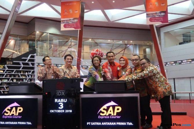 Resmi Melantai Di Bursa, Saham SAP Expres Naik 50 Persen