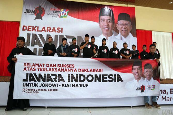 Ribuan Pesilat 'Jawi' Deklarasikan Dukungan untuk Jokowi