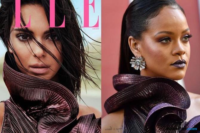 Rihanna dan Kendall Jenner Terlihat dalam Balutan Gaun yang Sama