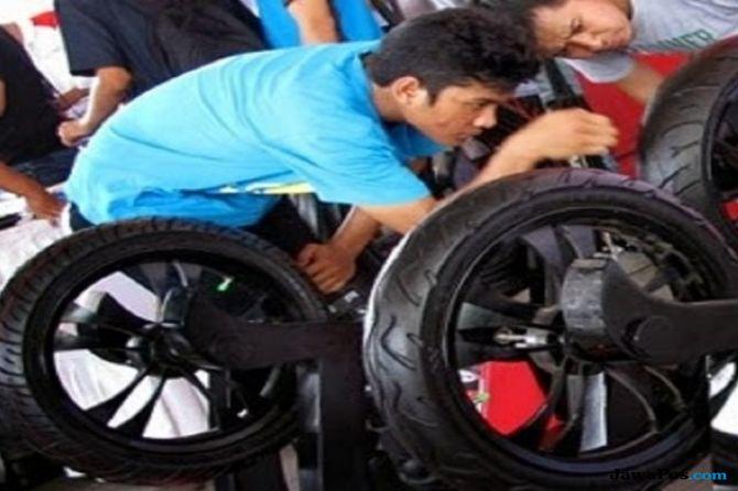 Roda Motor Berkapasitas 150cc Wajib Spooring dan Balancing