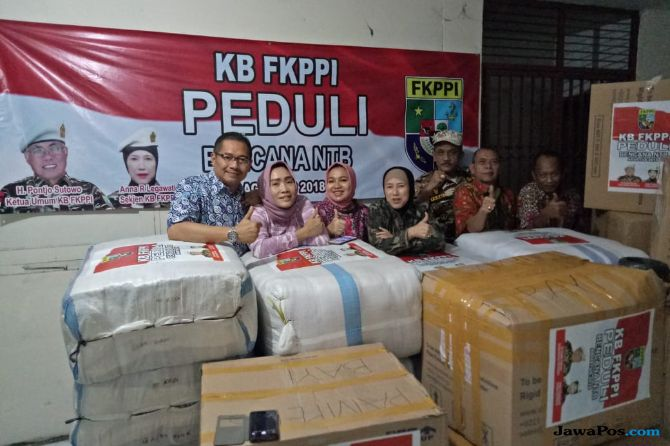 Salurkan Bantuan, FKPPI Peduli Korban Gempa Lombok