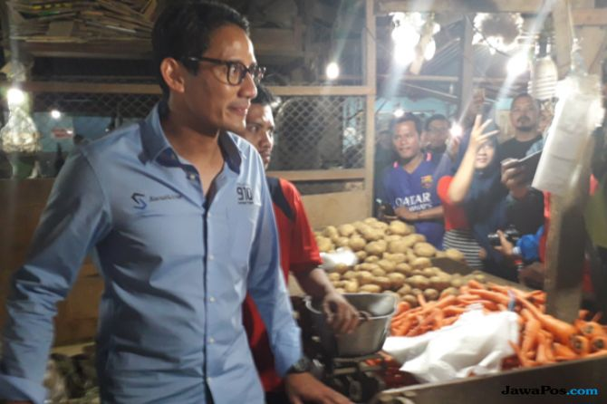 Sandi Janji Naikkan Anggaran Revitalisasi Pasar Tradisional