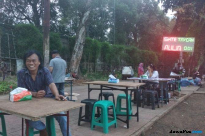 Sate Taichan Pindah ke Parkir Motor Senayan City, Pemprov: Sudah Ramai