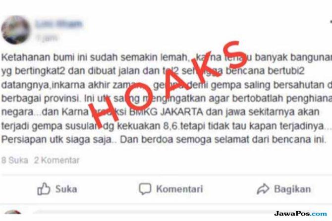 Hoax Soal Gempa