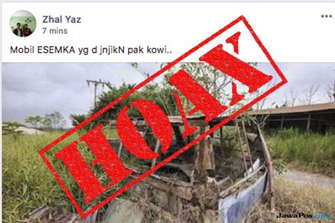 Sebarkan Hoax, Mobil Korban Sinabung Disebut Bangkai Esemka