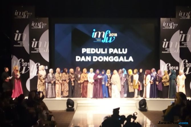 pekan mode di indonesia, Indonesia Modest Fashion Week, imfw 2018, modest wear, gempa palu, gempa donggala, penggalangan dana gempa,