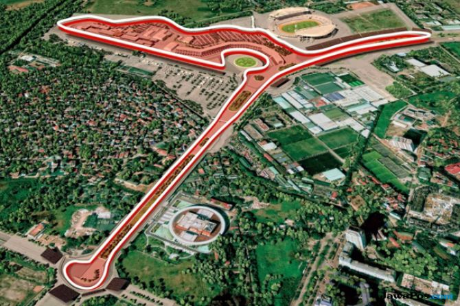 Formula 1, F1, GP Vietnam, Sirkuit hanoi