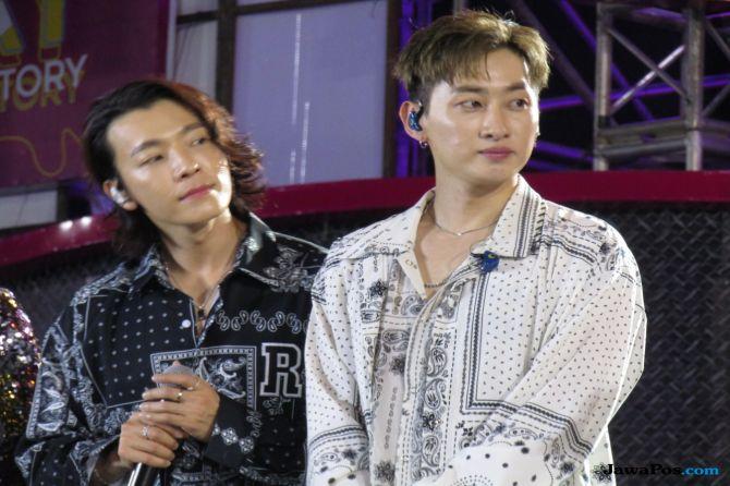 Super Junior D&E Dilempar Botol di Tangerang, Donghae Shock