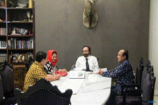 Surya Paloh Senang Puti Maju Jadi Cawagub Jatim
