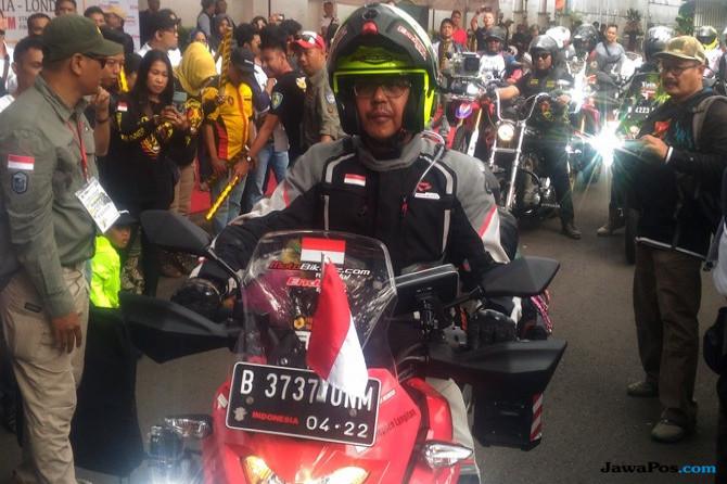 Taklukan Dunia, Stephen  Tempuh 30 Ribu Km Jakarta-London Dengan Motor