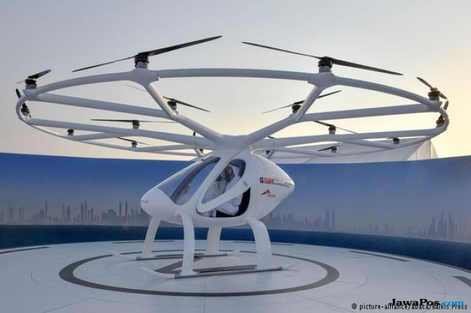 taksi udara, Volocopters, singapura,