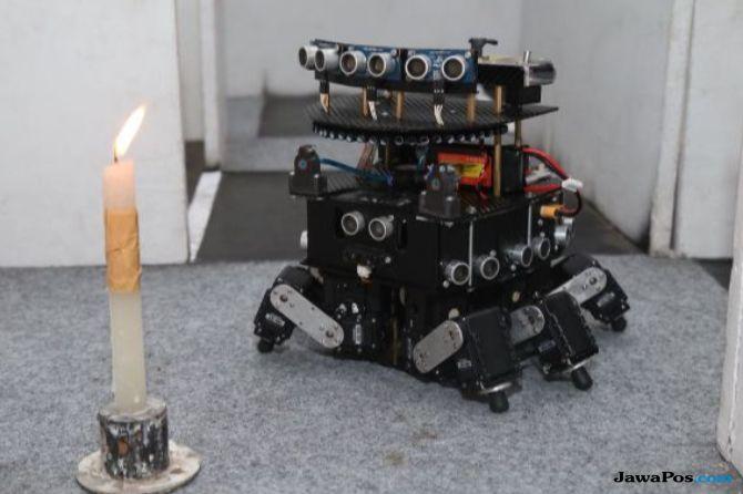 Tercepat Padamkan Api se-Indonesia, Robot DOME UMM Melesat ke AS