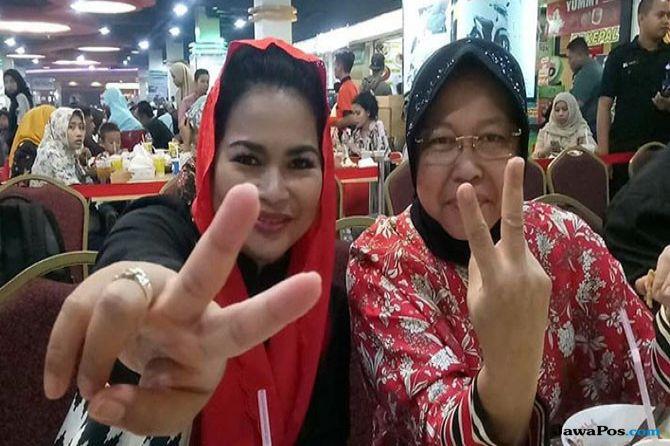 uti Guntur Soekarno bersama Wali Kota Surabaya Tri Rismaharini