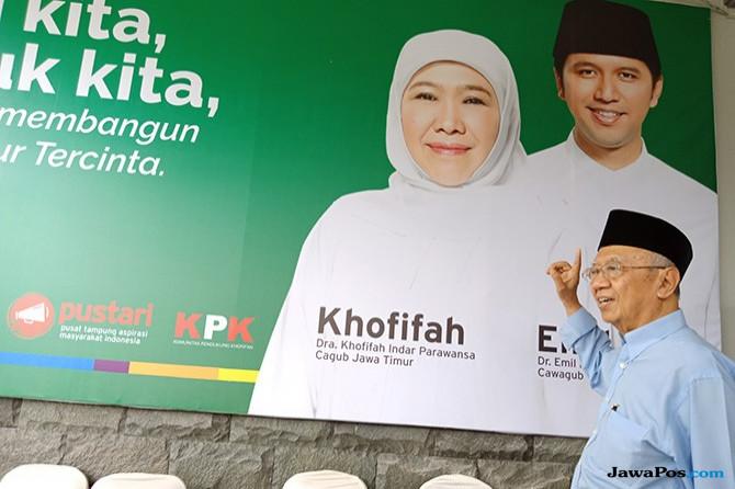Tinjau Posko Pemenangan Khofifah-Emil, Gus Sholah Gelar Rapat Tertutup