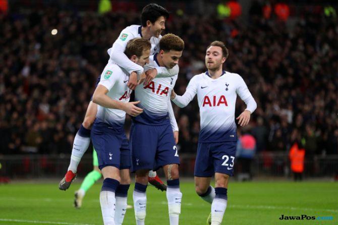 Piala Liga Inggris, Carabao Cup 2018-2019, Tottenham Hotspur, Chelsea, Derby London, Tottenham Hotspur 1-0 Chelsea