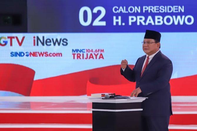 Tutup Debat Kedua, Prabowo Puji Capaian Pemerintahan Jokowi