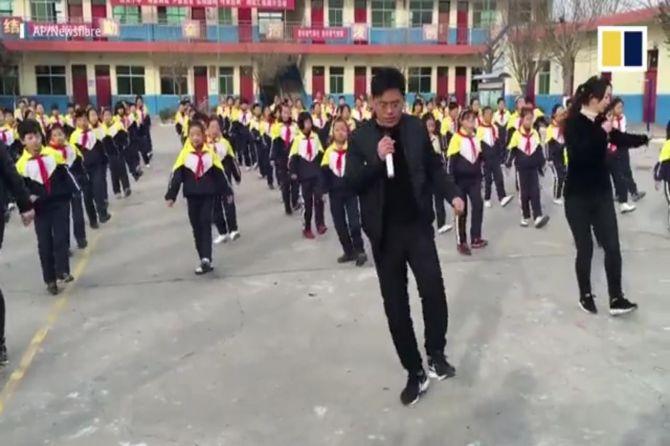 tari shuffle, tari, tiongkok,