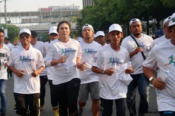 Wulan Guritno Semangati Warga Lombok di Blibli Mekaki Marathon