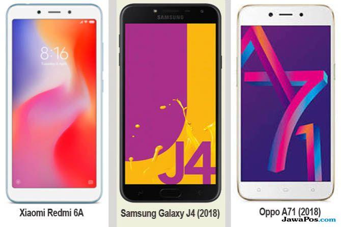 Xiaomi Redmi 6A, Samsung Galaxy J4, Oppo A71