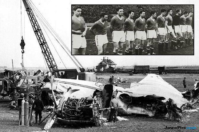 Kecelakaan pesawat, Manchester united, Tragedi Munchen