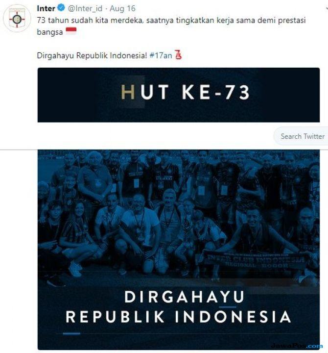 HUT Kemerdekaan RI, HUT RI ke-73, HUT Kemerdekaan, Inter Milan