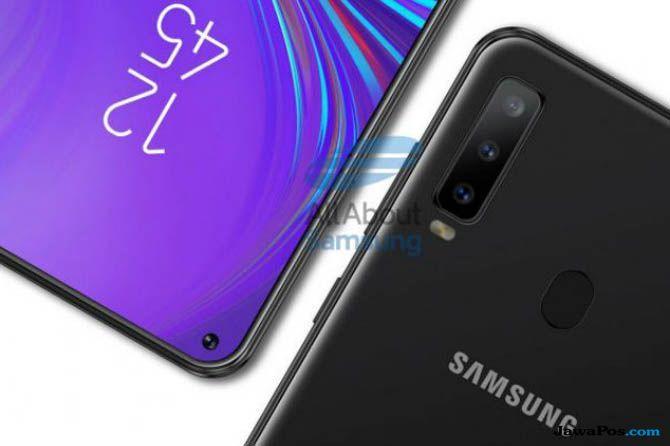Samsung Galaxy A8S, Samsung Galaxy A8S bocor, Layar Infinity O
