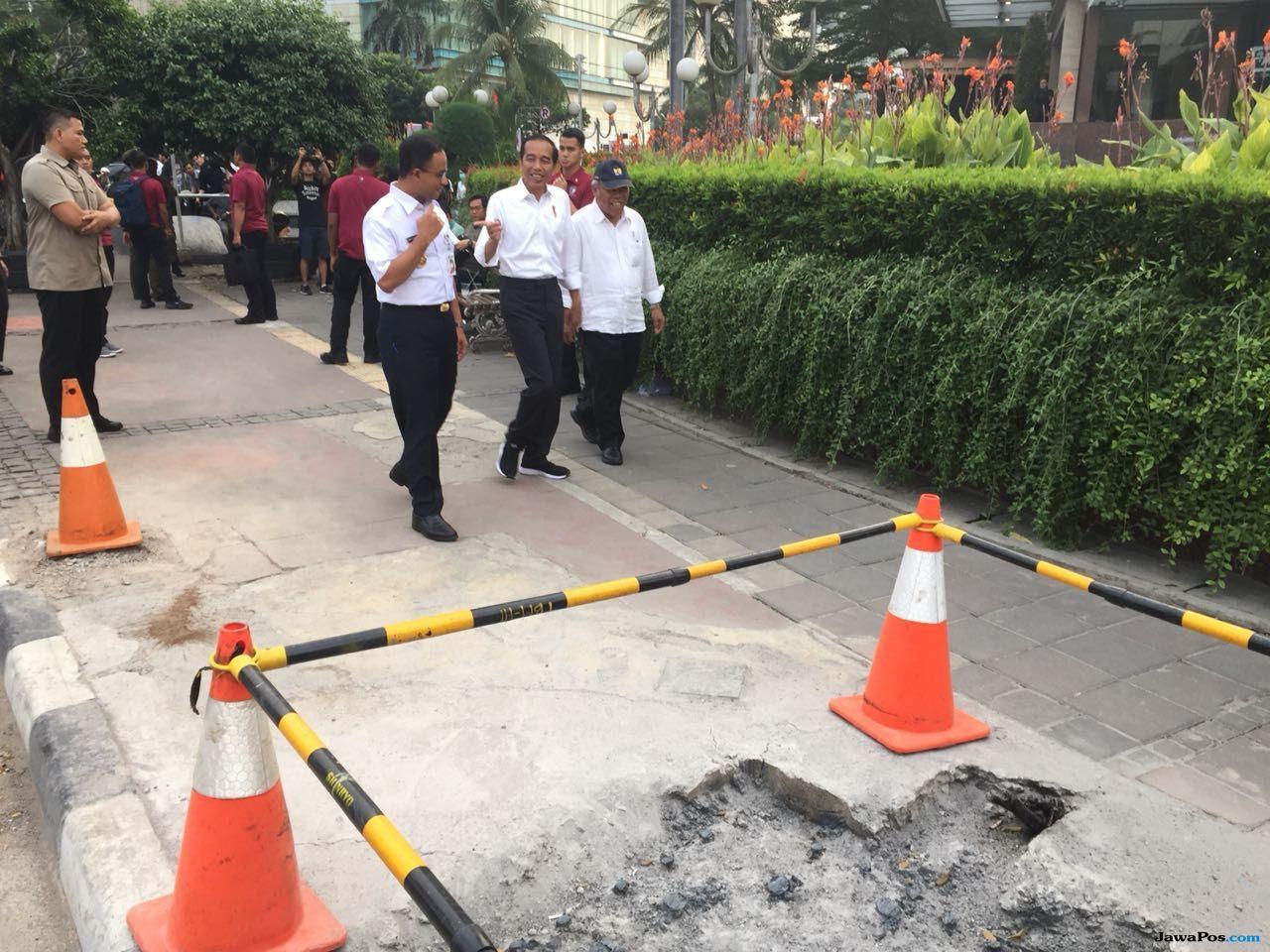 Ajak Jokowi dan Basuki, Anies Pamer Pelican Crossing Ramah Disabilitas