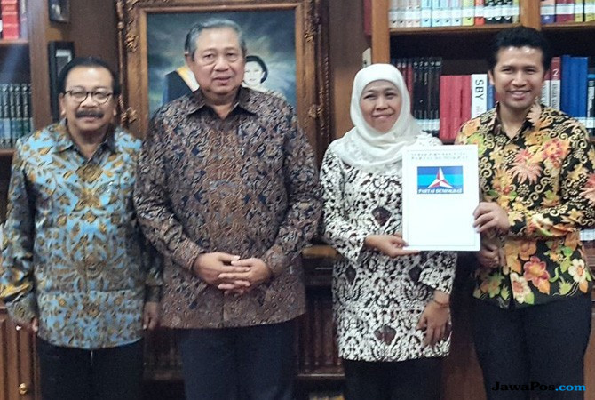 Soekarwo, Susilo Bambang Yudhoyono, Khofifah Indar Parawans, dan Emil Dardak