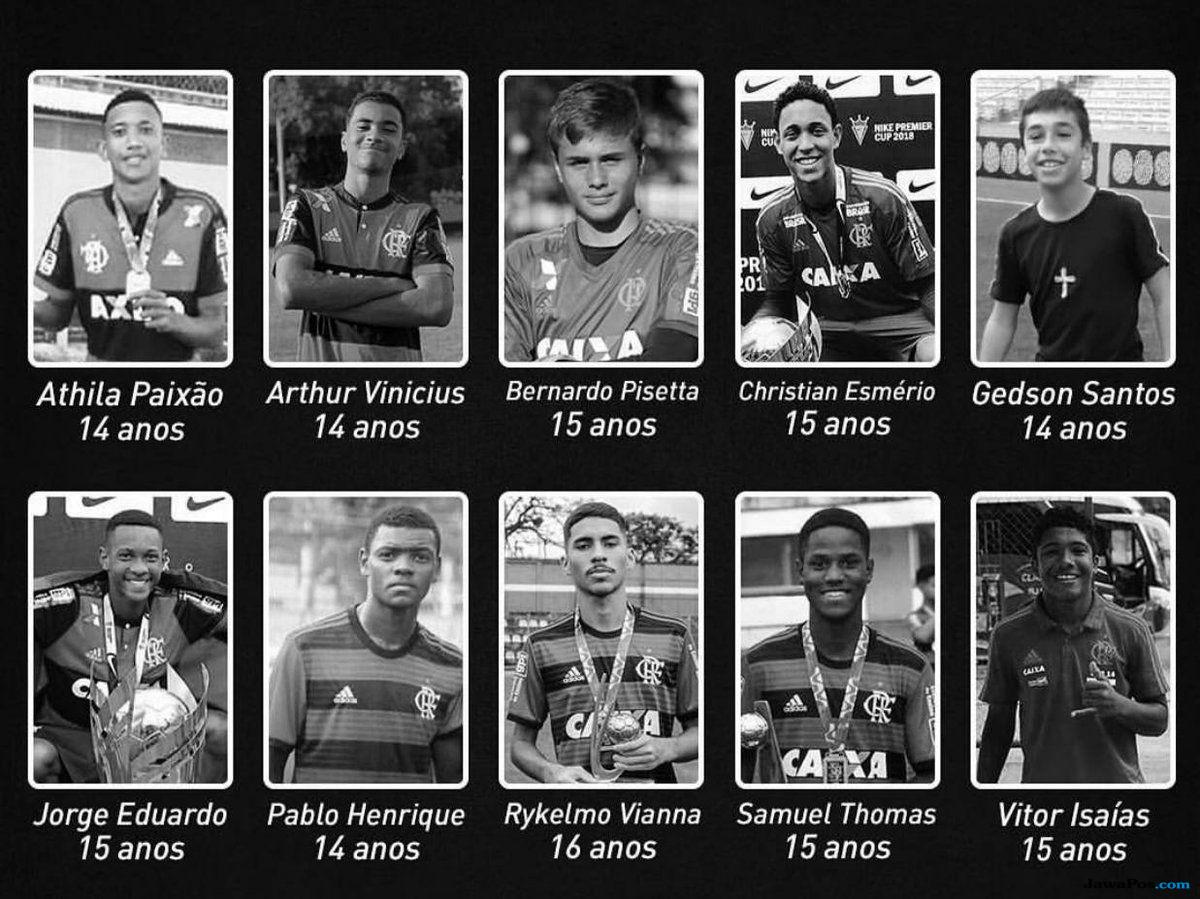 Flamengo, Brasil, Pemain Muda, Kebakaran