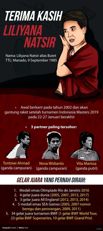Liliyana Natsir, Liliyana Natsir Pensiun, Butet, bulu tangkis, PBSI, Indonesia
