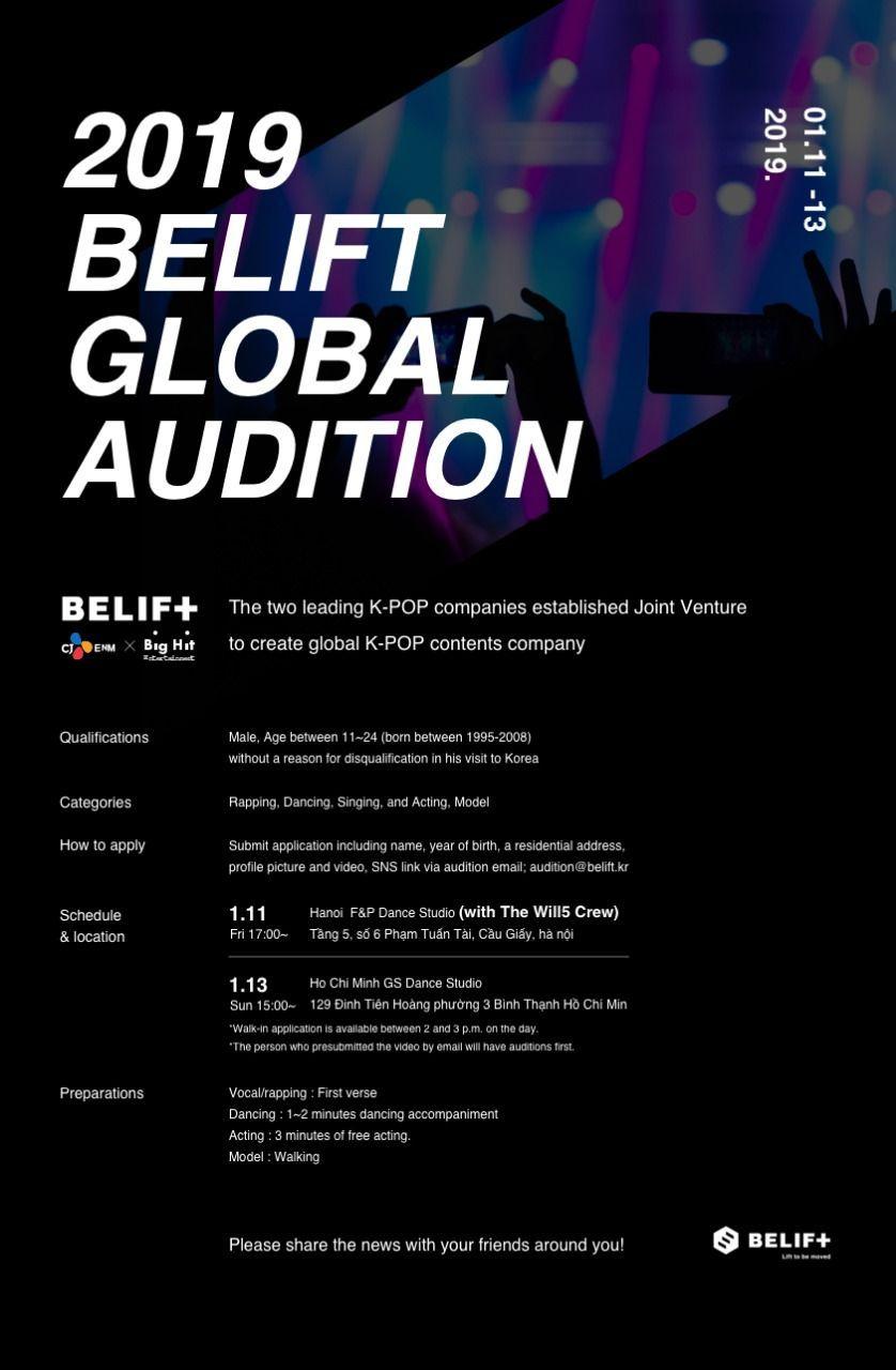 Debutkan Boygrup Tahun 2020, Belift Gaet Big Hit Gelar Audisi Global