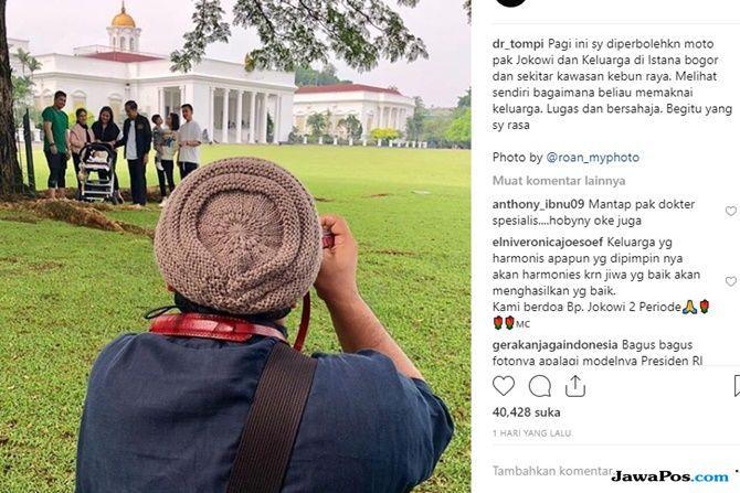 Dipercaya Ambil Foto, Tompi Ungkap Cerita Saat Temani Jokowi di Bogor