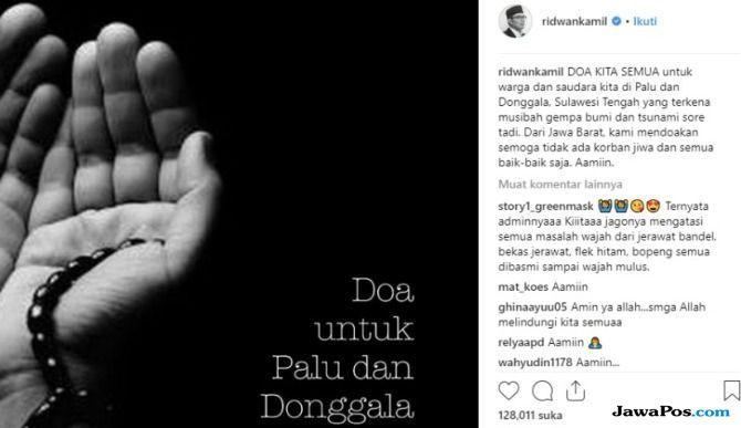 Doa Anies serta Ridwan Kamil untuk Palu dan Donggala