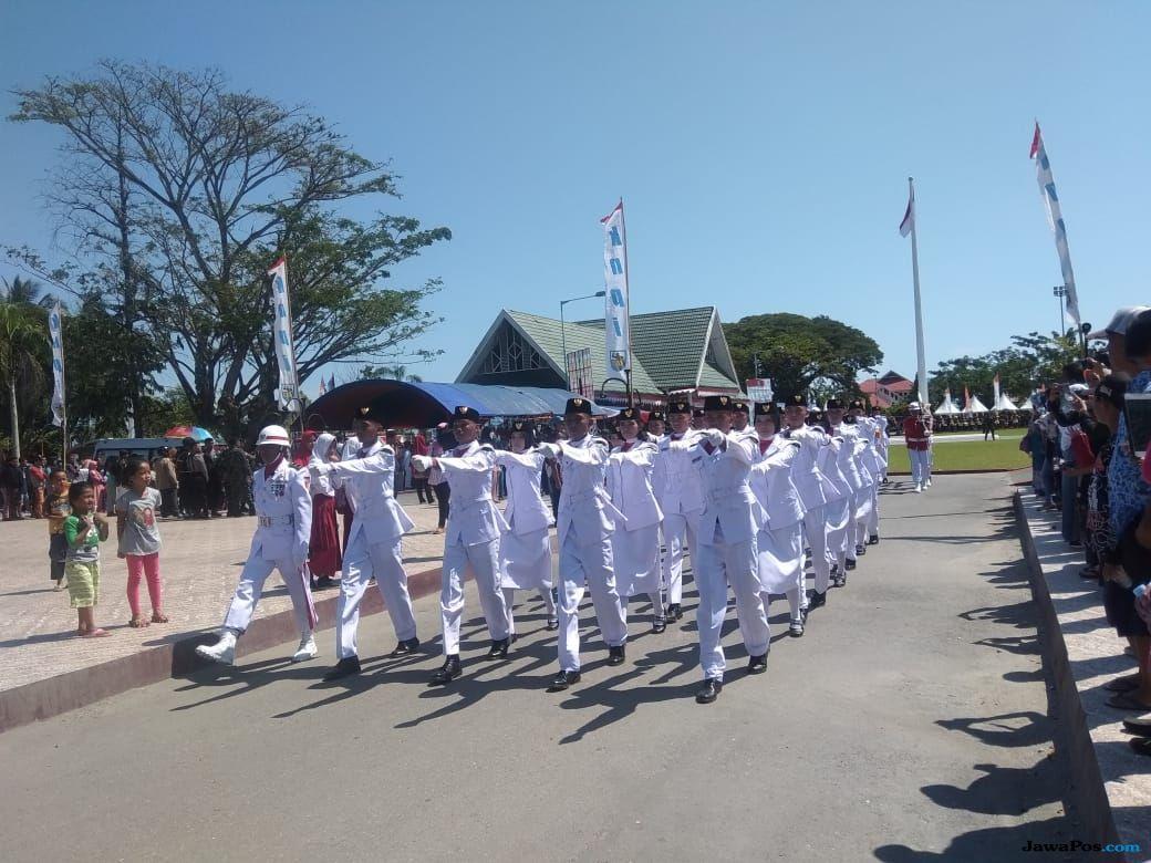 Gelora Upacara Bendera Merah Putih di Maroso Poso