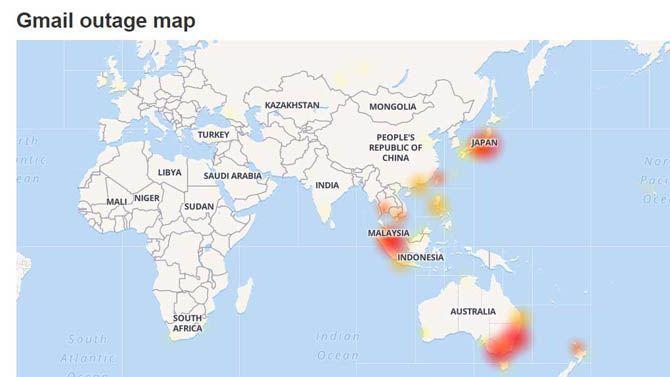 Gmail down, Gmail bermasalah, Gmail