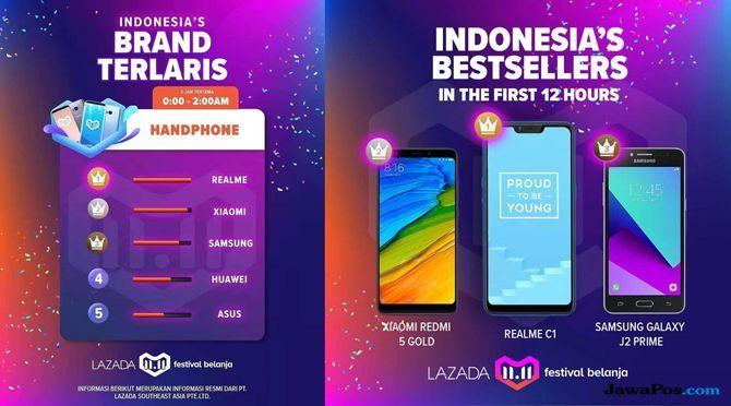 smartphone paling laris, festival belanja lazada, smartphone terlaris lazada