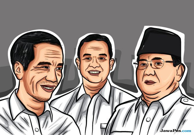 Jokowi, Anies dan Prabowo
