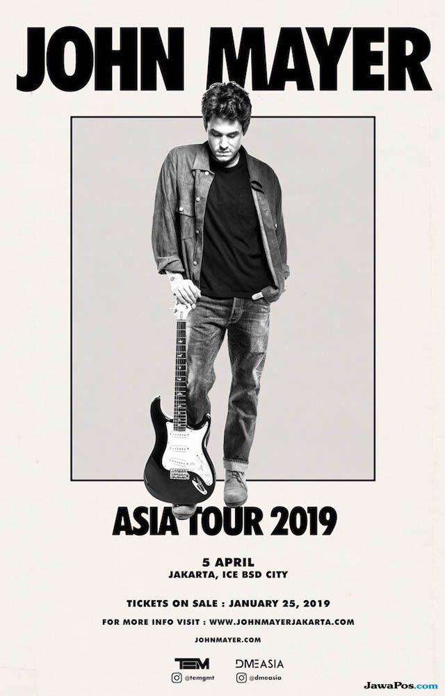 Jangan Kehabisan! Catat Tanggal Penjualan Tiket Konser John Mayer