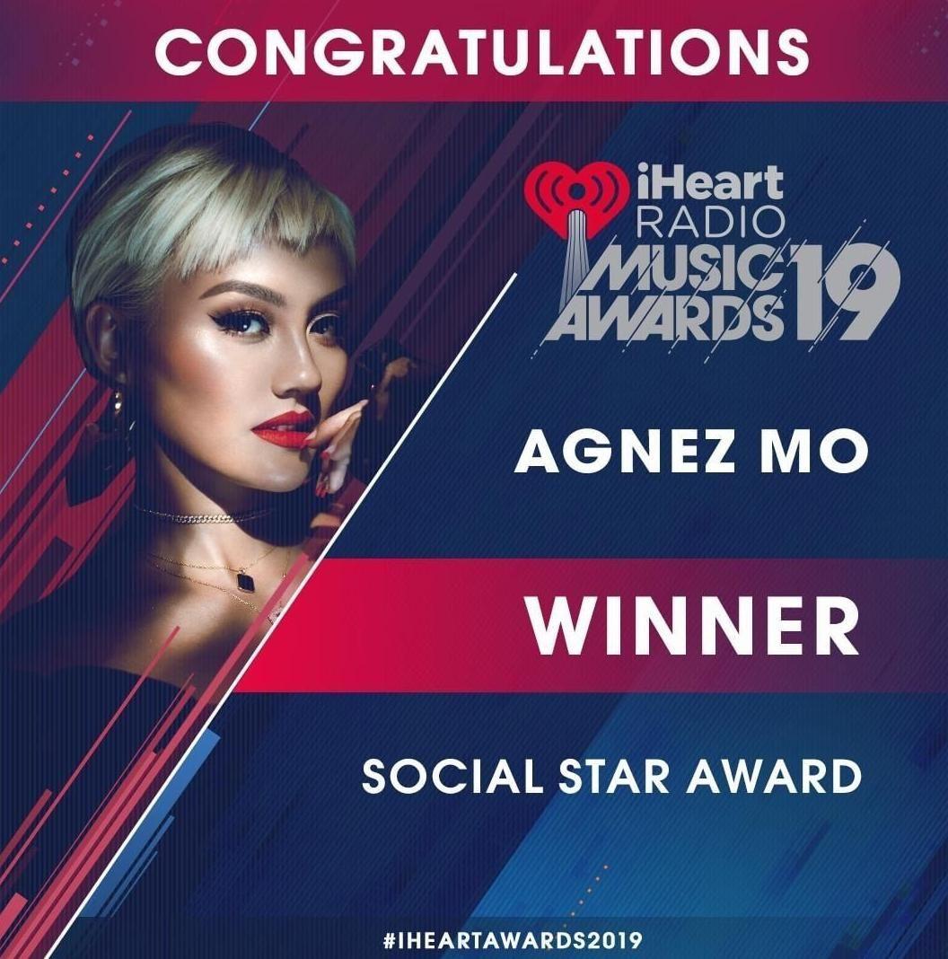 Kembali Ukir Prestasi, Agnez Mo Raih Penghargaan iHeartRadio Awards