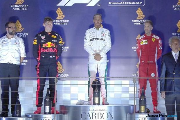 Formula 1 2018, F1, GP Singapura, Sebastian Vettel, Kimi Raikkonen, Lewis Hamilton, Vaktteri Bottas, Daniel Ricciardo, Max Verstappen, Fernando Alonso