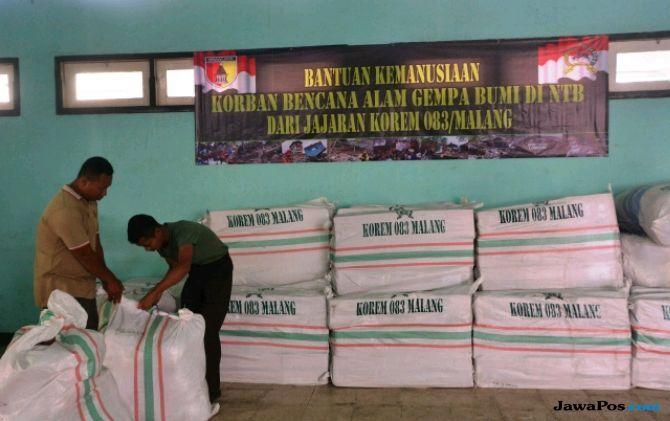 Korem 083 Kirimkan Bantuan Bagi Korban Gempa Lombok