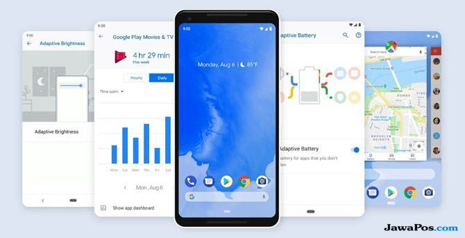 Android Pie, Fitur Android Pie, Pembaruan Android Pie