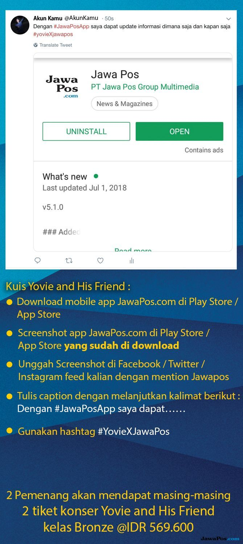 Kuis Konser Yovie And His Friends Jawa Pos Bagikan 4 Tiket