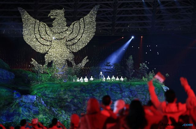 Lagu Bright As The Sun dari 18 Musisi Tutup Opening Ceremony Asian Games 2018